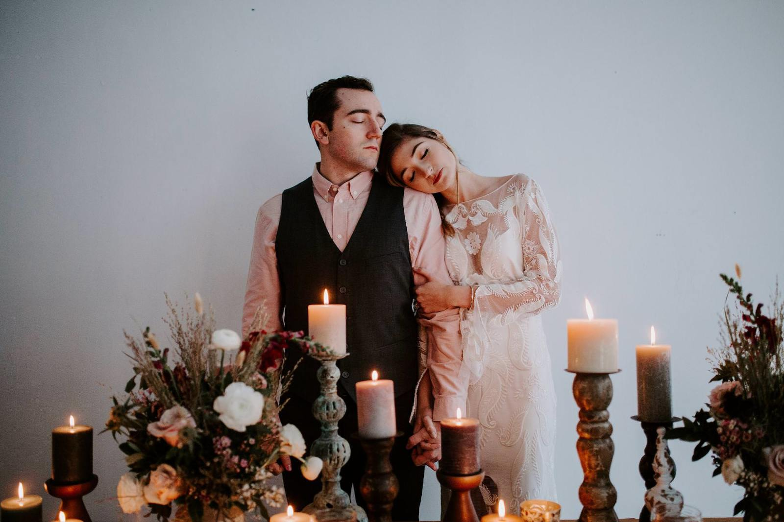 couple by candlelight